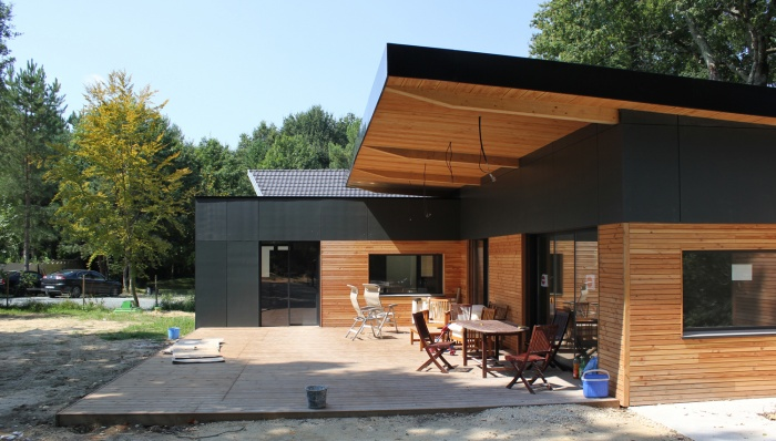 Construction d'une maison en ossature bois