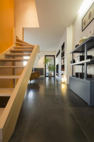 Surélévation et réaménagement  d'une maison d'habitation : escalier