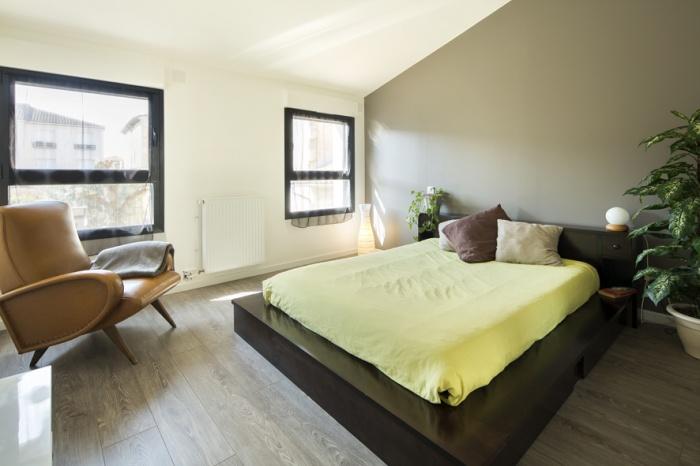 Surélévation et réaménagement  d'une maison d'habitation : chambre