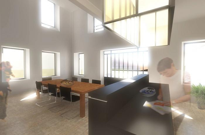 Rehabilitation d'une maison et création d'une salle de réception