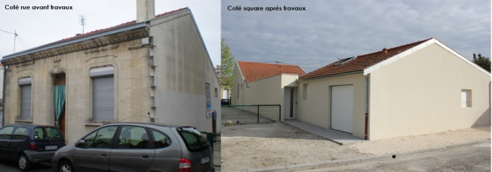 Réhabilitation d'une échoppe double avec patio : exterieur