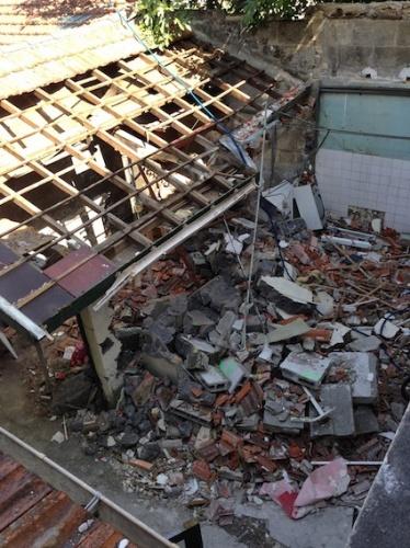 Rénovation échoppe F : Démolition