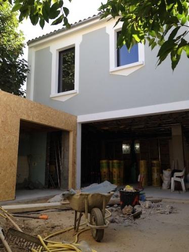 Rénovation échoppe F : Façade en cours de travaux