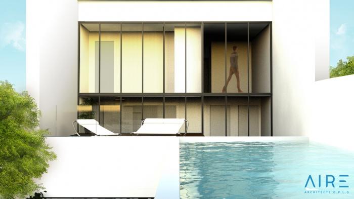 Maison de ville +patio