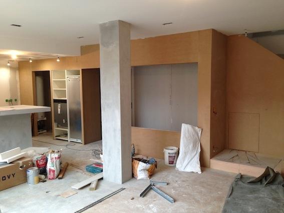 Rénovation échoppe F : Façade bois intérieure