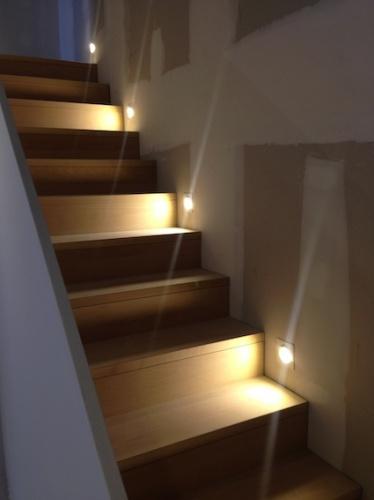 Rénovation échoppe F : Escalier bois en hêtre