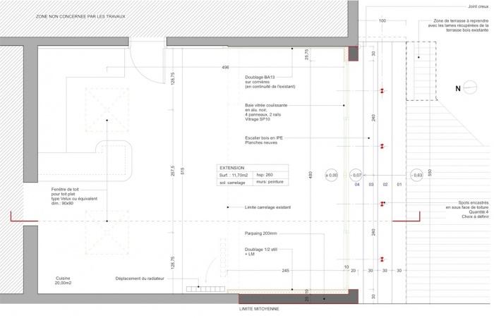 Extension d'une maison de ville : Plan de l'extension