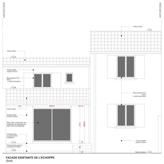 Extension d'une maison de ville : Façade - Etat des lieux