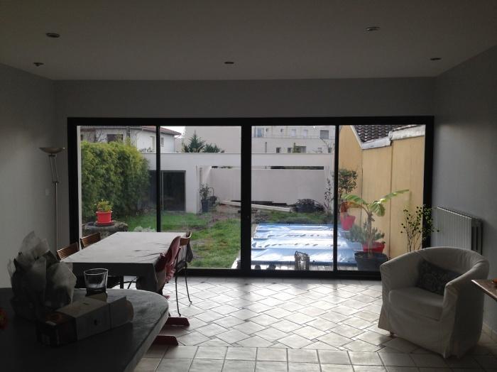 Extension d'une maison de ville : Vue de l'espace intérieur