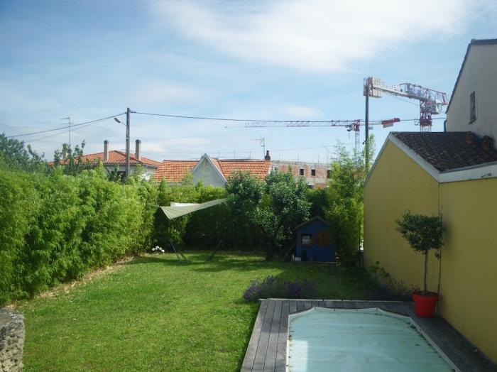 Extension d'une maison de ville : Jardin avant travaux