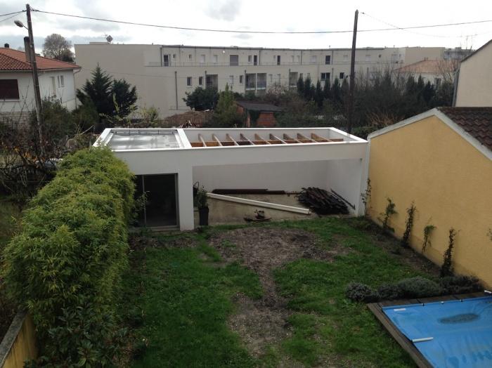 Extension d'une maison de ville : Garage et terrasse