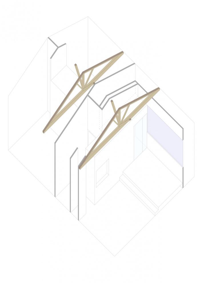 Rénovation échoppe F : Axonométrie