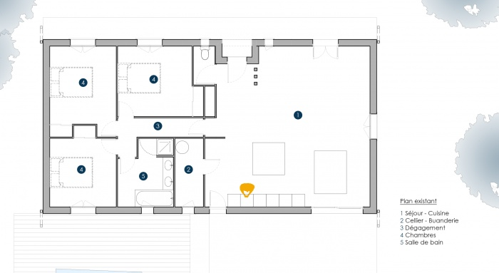 Architectes extension maison p pessac for Appartement josephine bordeaux