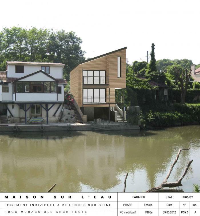 Architectes maison sur l 39 eau villennes for Logement sur bordeaux