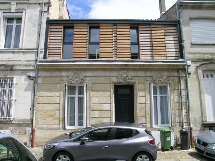 Maison BM : façade sur rue après travaux 2