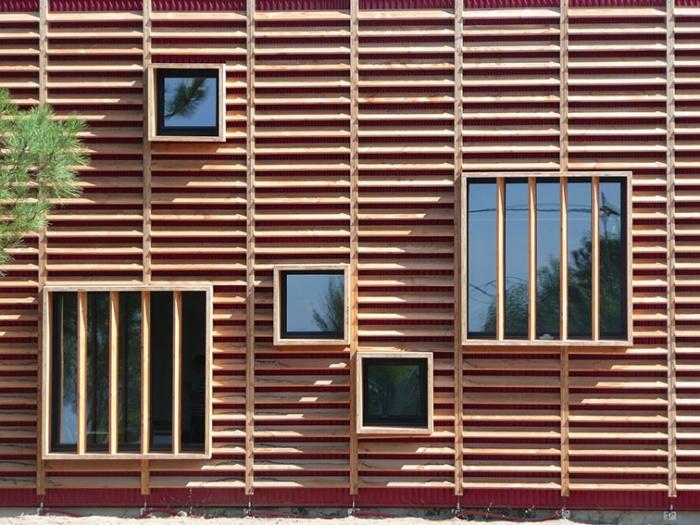 Centre de formation des métiers : détail façade sud