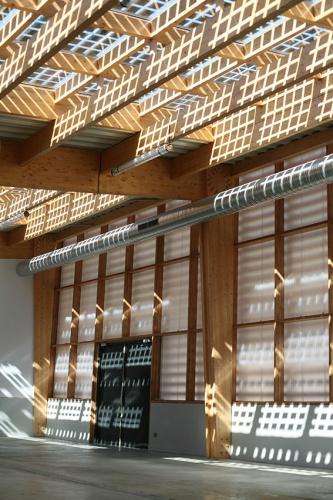 Centre de formation des métiers : détail verrière photovoltaïque
