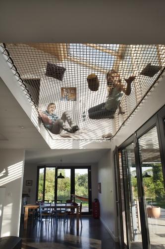 Maison passive / bois : espace sous verrière
