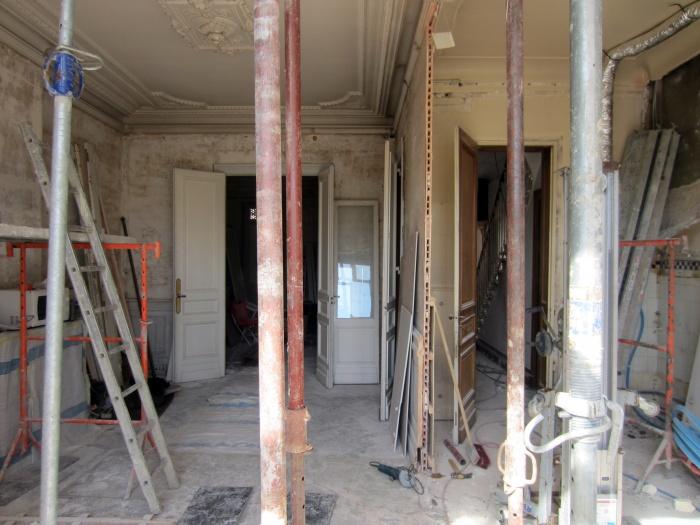 Maison N : SEJOUR chantier 2