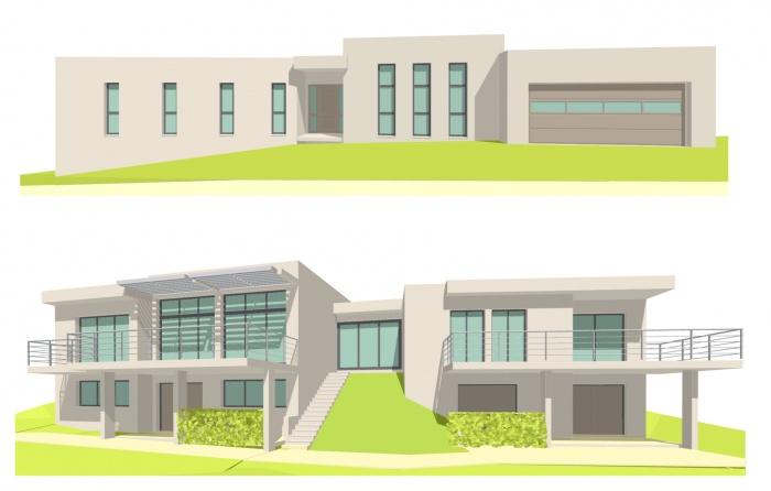 Projet maison contemporaine à toit terrasse