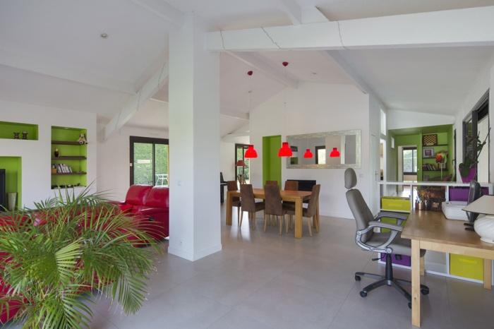 Réaménagement d'une maison d'habitation : salon