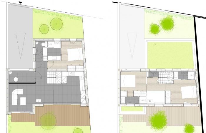 Construction d'une maison d'habitation : plan intérieur