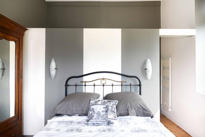 rénovation habitation et locaux professionnels : chambre à rayures.jpg