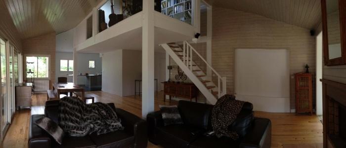 extension et rénovation habitation : 6 vue du séjour et de la mezzanine.jpg