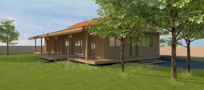 Architectes maison bois l ge cap ferret l ge cap ferret - Maison bois cap ferret ...