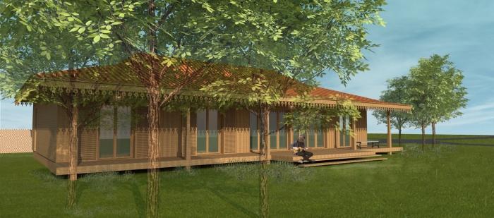 maison bois l ge cap ferret l ge cap ferret une r alisation de rodde aragues architectes. Black Bedroom Furniture Sets. Home Design Ideas