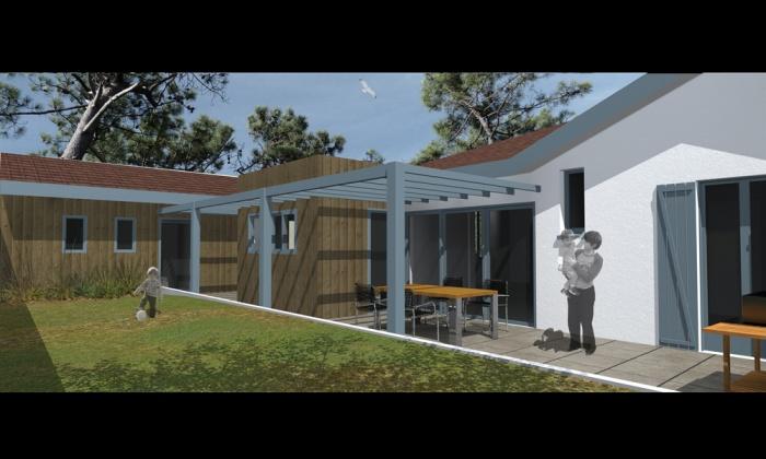 Architectes extension maison xv andernos for Extension maison bordeaux