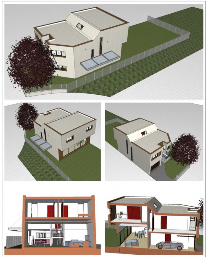 Construction maison contemporaine à Pessac respectant la RT 2012 : PES 2