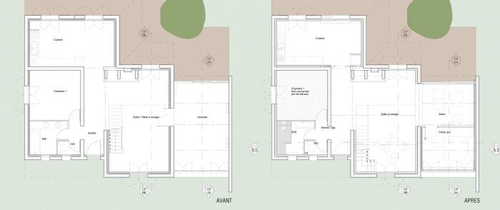 Réaménagement d'une maison d'habitation : PLAN RODES AVANT APRES.jpg