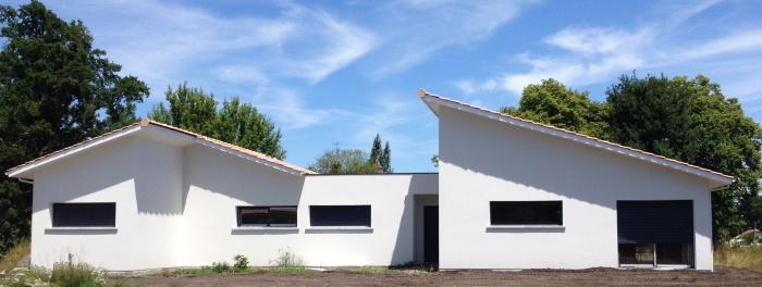 Projet maison contemporaine bordeaux une r alisation for Projet maison contemporaine