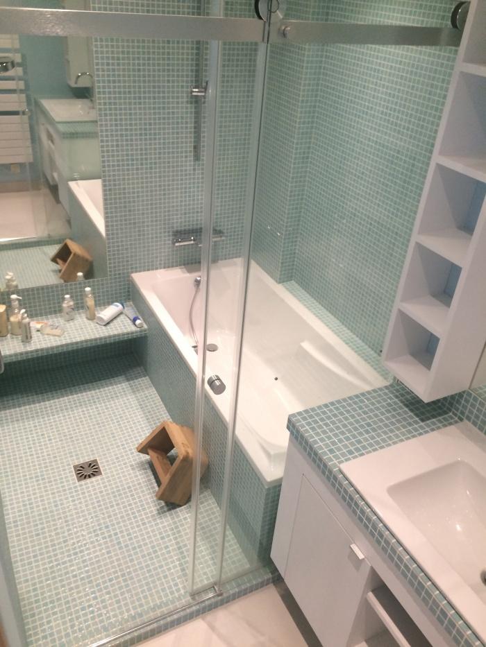 L 39 appartement japonnais boulogne billancourt une for Salle de bain japonaise