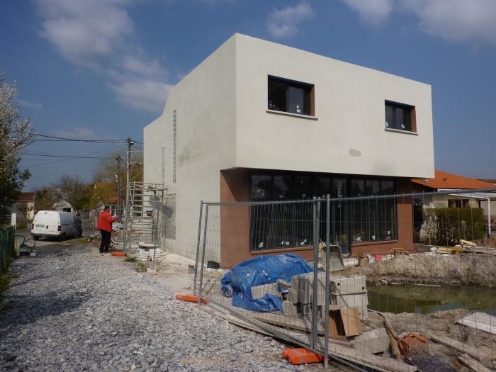 Construction maison contemporaine à Pessac respectant la RT 2012 : P1150056