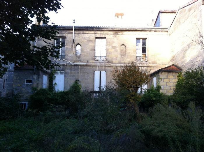 Réhabilitation, surélévation et extension d'un immeuble à Bordeaux : Façade sur jardin