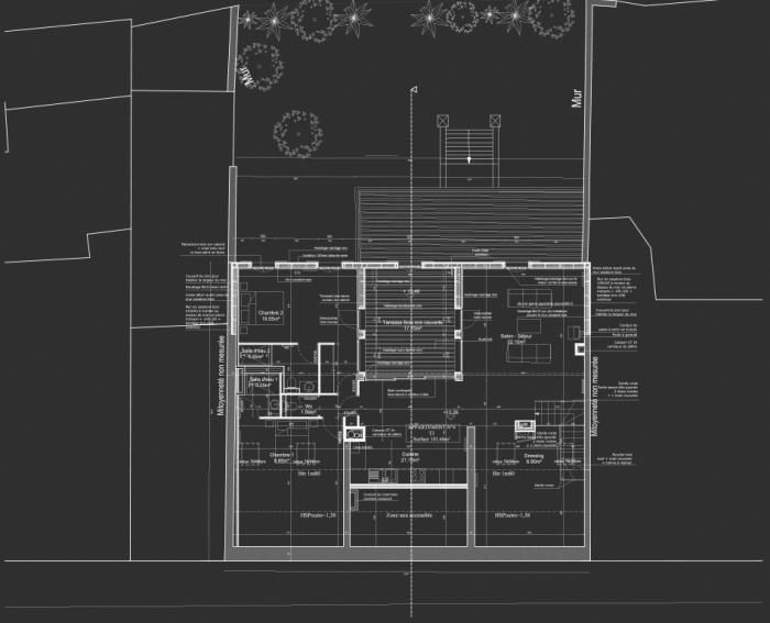 Réhabilitation, surélévation et extension d'un immeuble à Bordeaux : Plan R+2