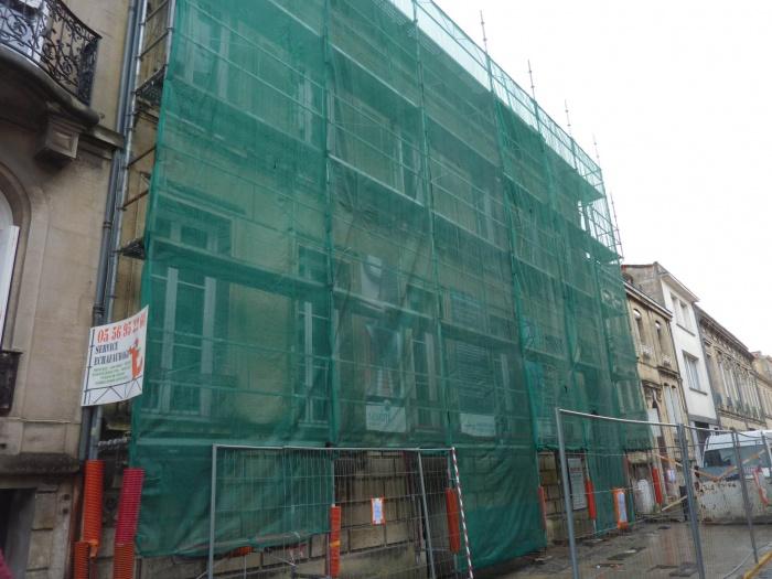 Réhabilitation, surélévation et extension d'un immeuble à Bordeaux : Ravalement de la façade