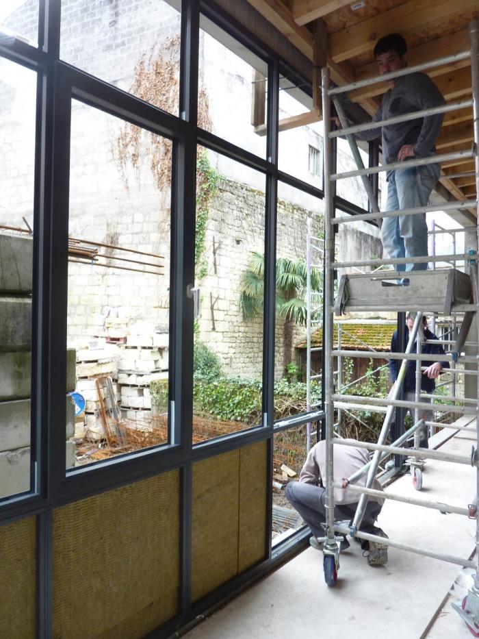 Réhabilitation, surélévation et extension d'un immeuble à Bordeaux : Véranda