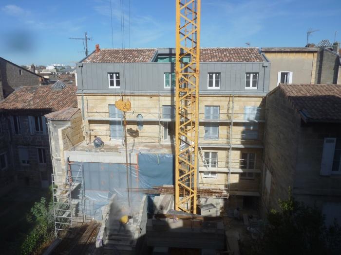 Réhabilitation, surélévation et extension d'un immeuble à Bordeaux : Vue générale