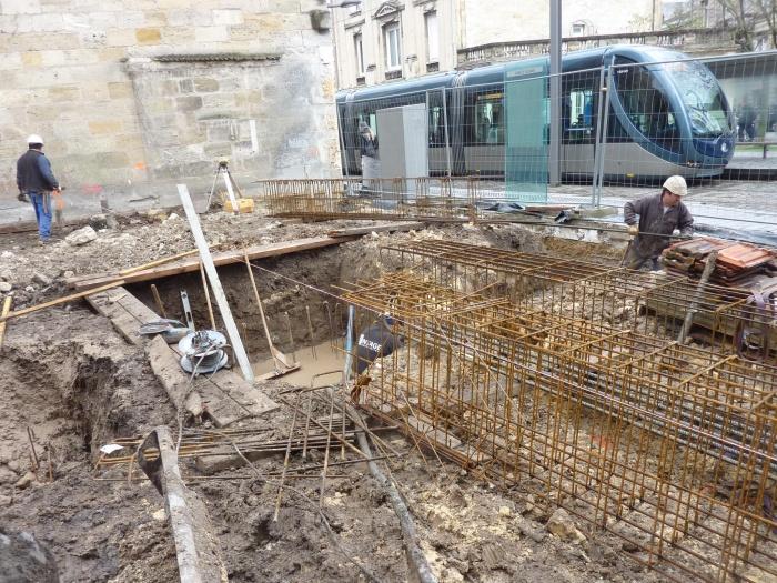 Construction d'un immeuble neuf à Bordeaux : Armatures