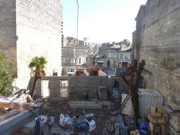 Construction d'un immeuble neuf à Bordeaux : Murs RDC