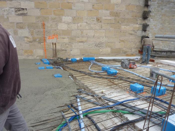 Construction d'un immeuble neuf à Bordeaux : Plancher intermédiaire