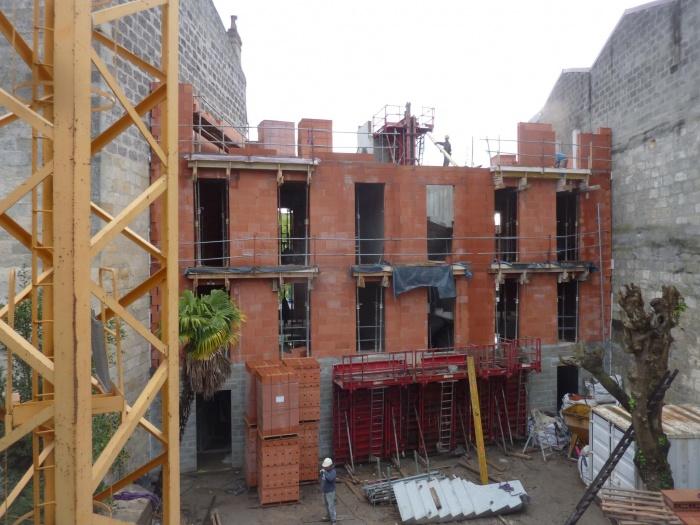 Construction d'un immeuble neuf à Bordeaux : Murs étages
