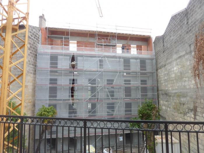 Construction d'un immeuble neuf à Bordeaux : Maçonnerie terminée