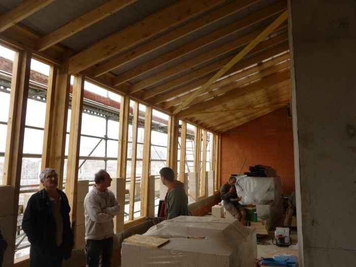 Construction d'un immeuble neuf à Bordeaux : Charpente bois