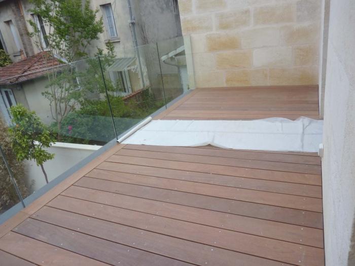 Rénovation complète d'une maison de ville : Terrasse bois