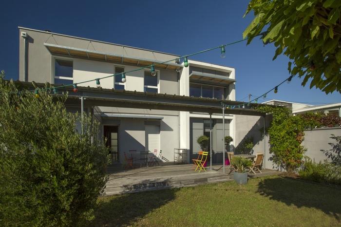 Surélévation d'une maison d'habitation : vue arriere 2