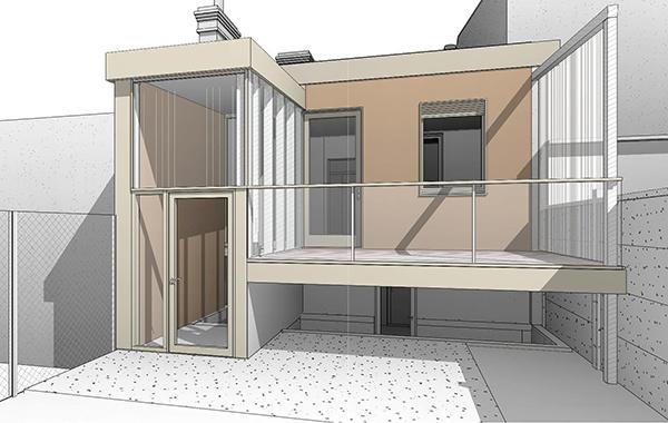 Rénovation et restructuration de façade d'une échoppe de ville : 15-065 - PERS- PROJET